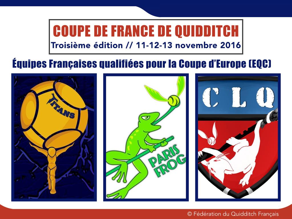 Les trois équipes qualifiées pour la Coupe d'Europe 2017 - © FQF