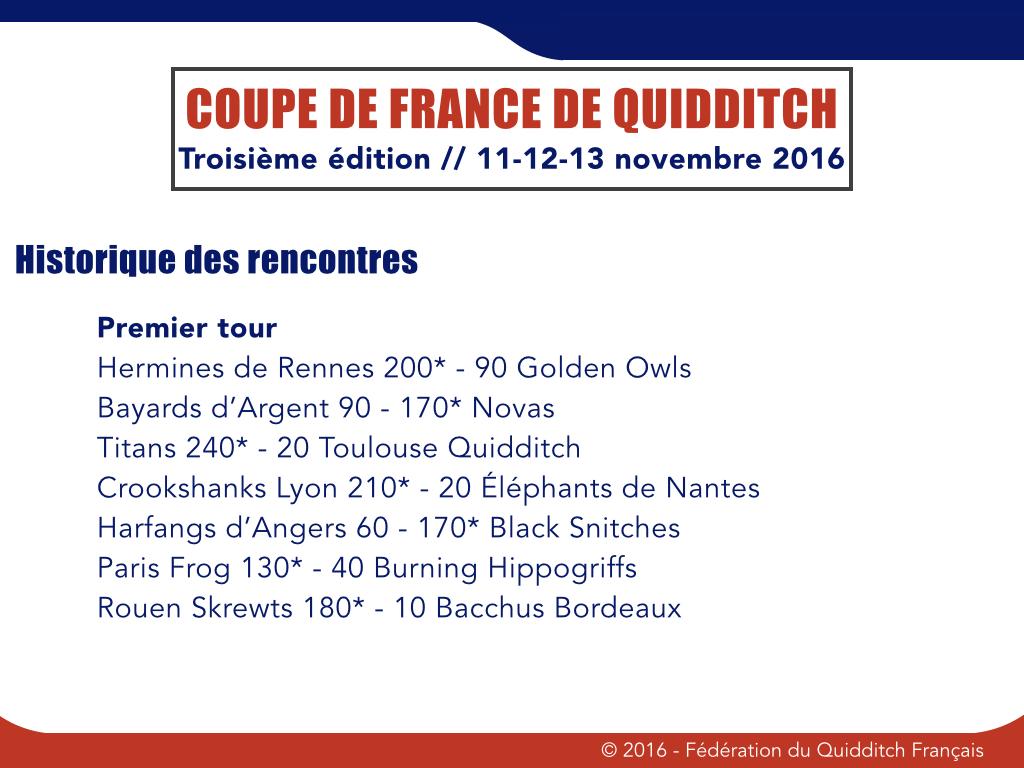 Premier tour Coupe de France 2016-1017 - © FQF