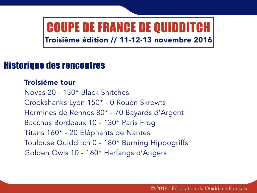 Troisième tour Coupe de France 2016-1017 - © FQF