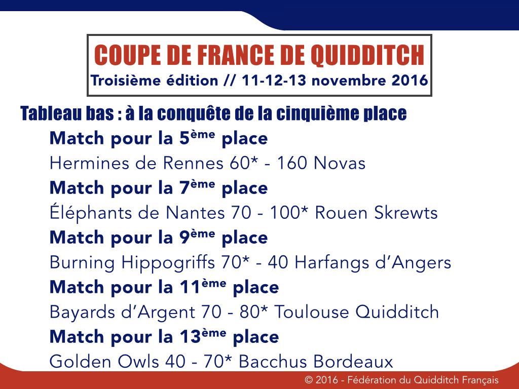 Phases finales de l'arbre de consolation Coupe de France 2016-1017 - © FQF
