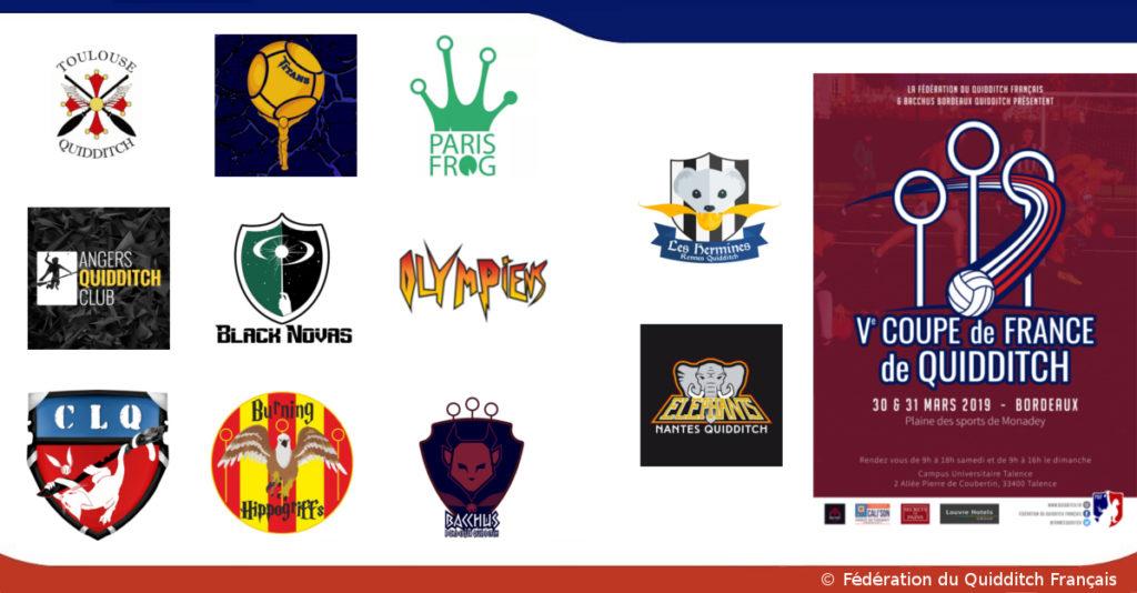 Visuel des équipes participantes à la Coupe de France 2019