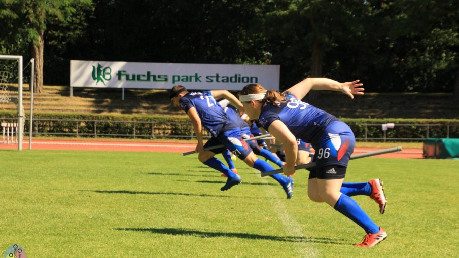 Brooms up du match France-Catalognea